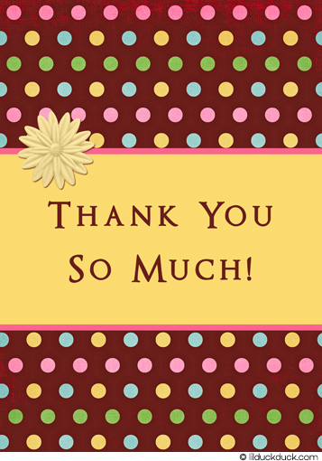 Word 2007 Thank You Note Card